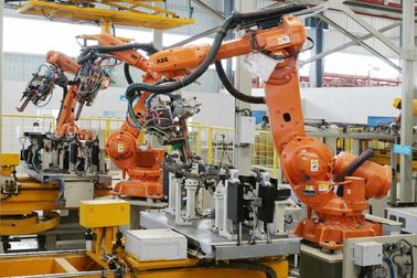 China Customized Robotic Welding Systems With Spot Welding Fixture For Automotive Parts factory