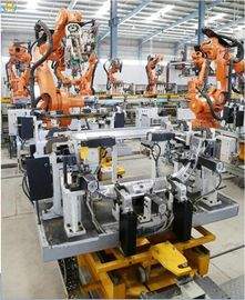 China Spot Robotic Welding Systems With Fixture Switching Device Advantage For Automotive Parts factory