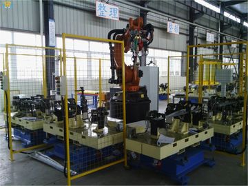 H Type Arc Robotic Welding Systems For Automotive Parts Assembly Line